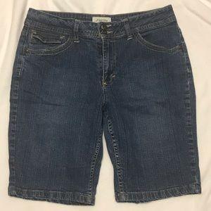 St. John's Bay Jean Denim Bermuda Shorts